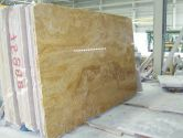Yellow Travertine vein cutted slabs